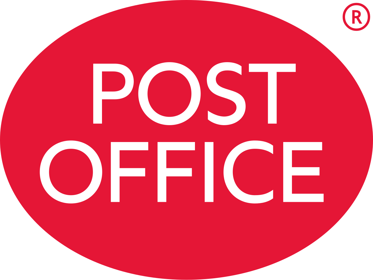 Red oval Post Office logo for training video page