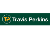 Gold and green Travis Perkins Logo