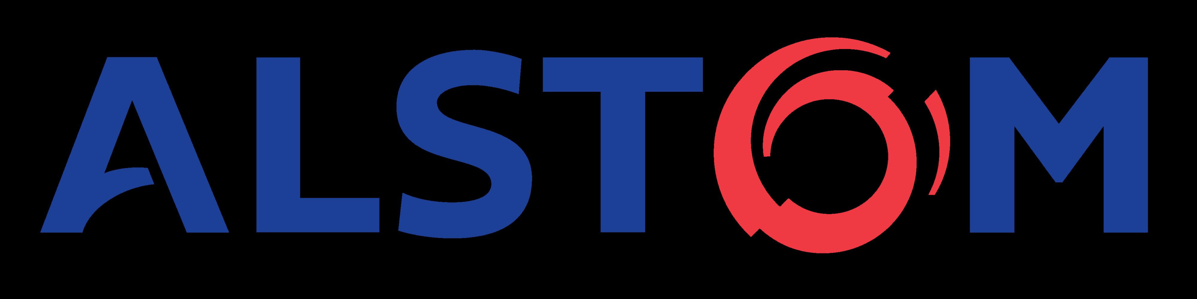 Red and blue Alstom logo