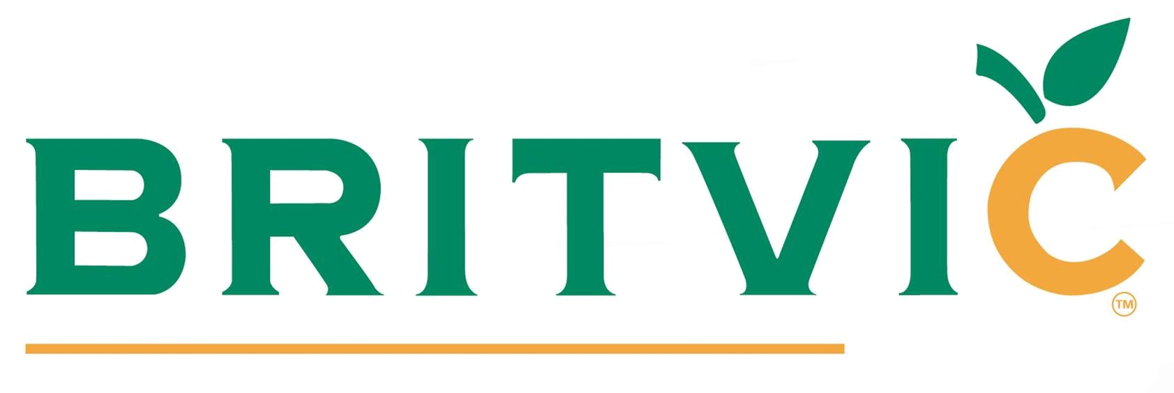 Orange and green Britvic logo for health and safety video page