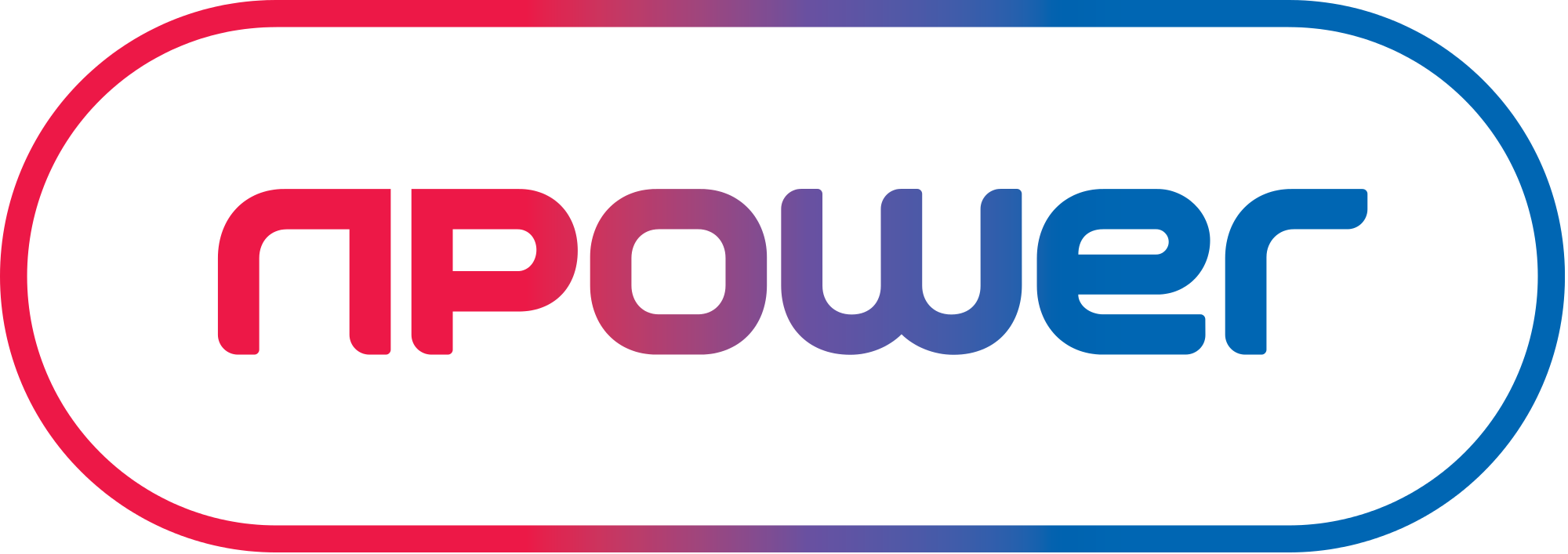 npower lozenge shaped  logo in red and blue for explainer video page