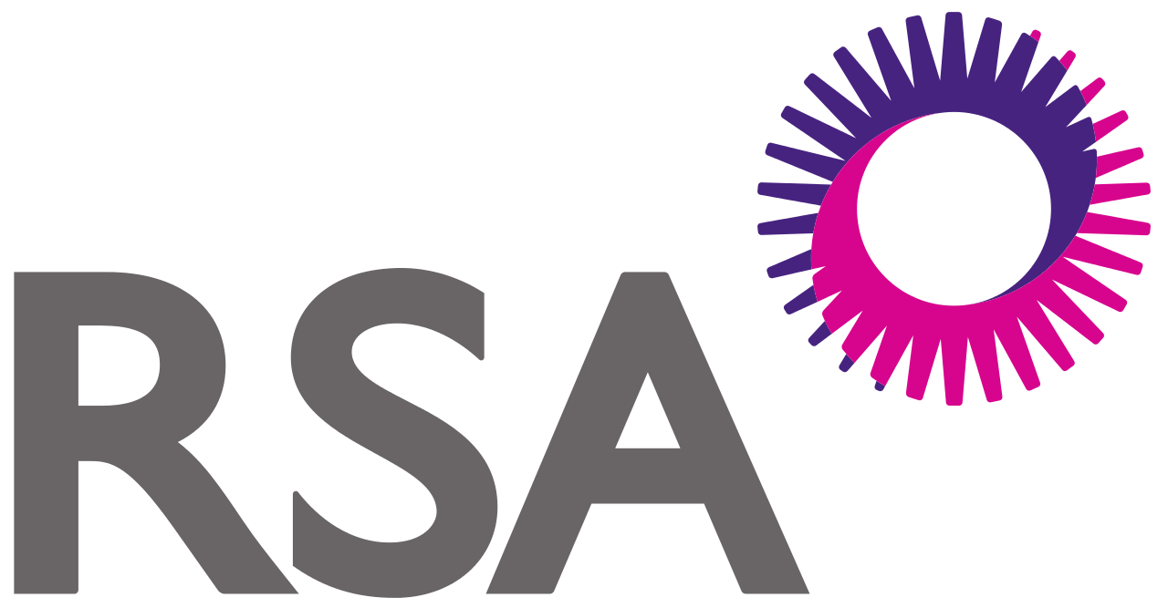 RSA logo and purple circle