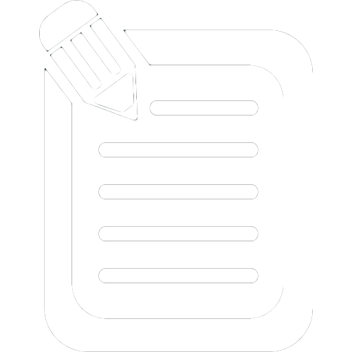 Script icon with paper and pencil for training video page