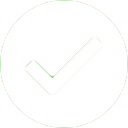 Blue tick in white circle